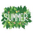 summer leaves poster vector image