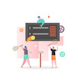 tennis tournament concept for web banner vector image vector image