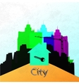 The city wall Construction of a new home abstract vector image vector image