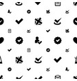 tick icons pattern seamless white background vector image vector image