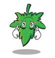 upside down marijuana character cartoon vector image vector image