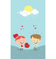 Valentines gift vector image