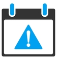 Warning Calendar Day Toolbar Icon vector image vector image