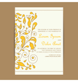 Wedding vintage invitation with floral elements vector image vector image