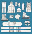 winter sports and activities icon set vector image vector image