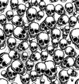 hand drawn skull seamless background vector image
