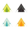 Tourist camp tents set isolated on white vector image