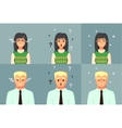 Funny Cartoon Character Office Worker Calm Angry vector image