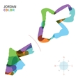Abstract color map of Jordan vector image vector image
