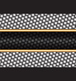 abstract metal weave black gold line vector image vector image
