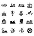 Amusement Icons Black vector image vector image