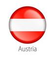 austria round button flag vector image vector image