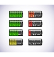 batteries icons vector image