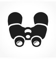 binoculars black icon design vector image