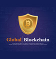 blockchain design background collection vector image vector image