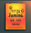 brazilian festival of festa junina poster design vector image vector image