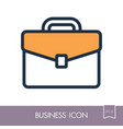 briefcase outline icon business sign vector image vector image