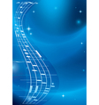 bright blue music background with gradient vector image vector image