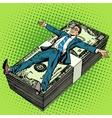 Business financial success concept businessman vector image vector image