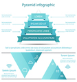 Business pyramid infographic template design vector image