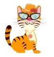 Cartoon fashionable tigress vector image