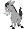 cartoon happy donkey showing ass vector image vector image