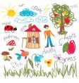 child draw elements vector image