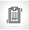 Clipboard line simple line icon vector image