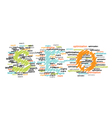 concept of SEO word combined from elements vector image vector image
