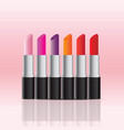 Cosmetics store display products of color