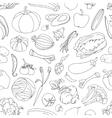 Doodle pattern of vegetables vector image vector image