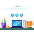 e-learning platform digital education online vector image vector image