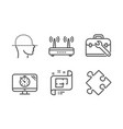 face scanning wifi and tool case icons set seo vector image vector image