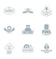 factory logo set simple style vector image vector image