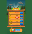 farm fruits level completed screen - mobile game vector image vector image