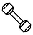 fitness dumbell icon outline style vector image