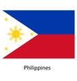 Flag of the country philippines vector image