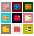 Flat assembly icons of sale booklet