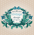 Floral cartouche vector image vector image