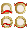 gold backgrounds vector image vector image
