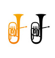 golden icon of tuba vector image vector image