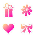 Happy valentine icons vector image vector image