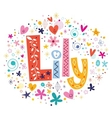 Lily female name decorative lettering type design vector image vector image
