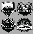 logo mountain adventure camping climbing set vector image