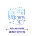 make payment concept icon vector image vector image