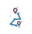 map location navigation gps icon design vector image