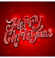 Merry Christmas lettering Vintage Background With vector image vector image