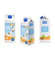 milk packaging design realistic almonds drink vector image