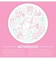 Motherhood poster template line vector image vector image