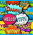 multicolored comics speech bubbles pattern vector image vector image